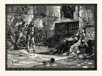 Capture of Bruce's Wife and Daughter at Tain--Giclee Print