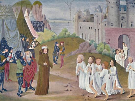'Capture of Calais (Lambeth Palace Library), 14th century, (1903)-Unknown-Giclee Print
