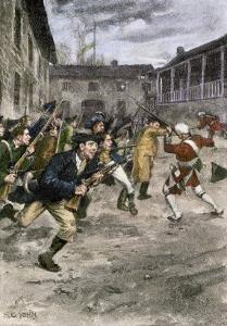Capture of Fort Ticonderoga by Ethan Allen and the Green Mountain Boys, c.1775