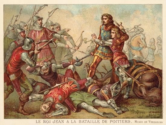 Capture of John II of France at the Battle of Poitiers, 1356--Giclee Print
