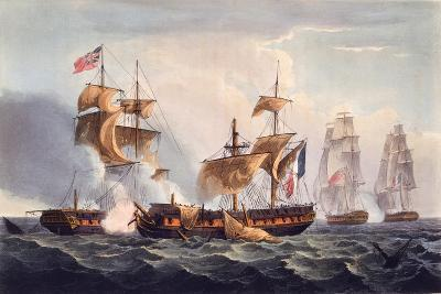 Capture of La Minerve, Print Made by Thomas Sutherland, from 'The Naval Achievements of Great…-Thomas Whitcombe-Giclee Print
