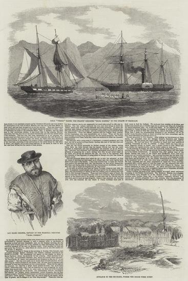 Capture of Magellan Pirates by HMS Virago--Giclee Print