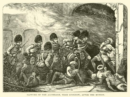Capture of the Alumbagh, Near Lucknow, after the Mutiny--Giclee Print