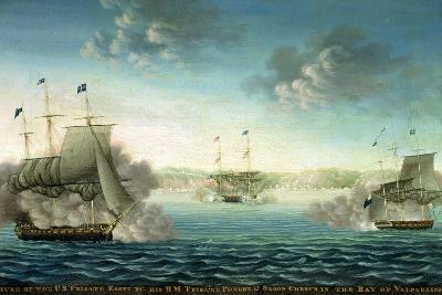 Capture of the Us Frigate 'Essex' by B.M Frigate 'Phoebe' and Sloop 'Cherub' in the Bay of…-George Ropes-Giclee Print