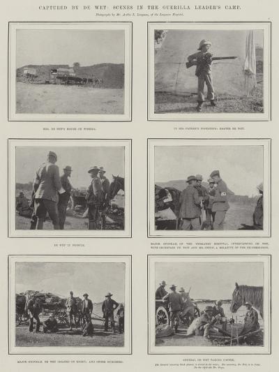 Captured by De Wet, Scenes in the Guerilla Leader's Camp--Giclee Print