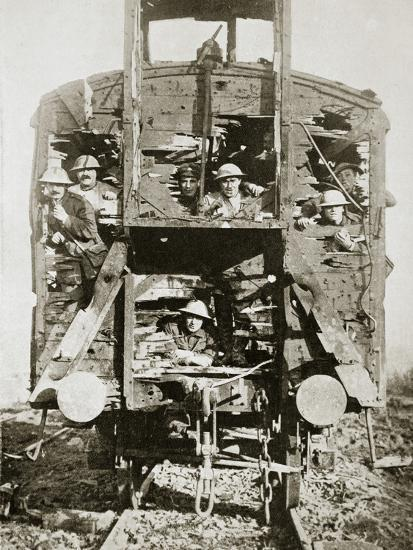 Captured German railway carriage, the Ancre, France, World War I, 1916-Unknown-Photographic Print