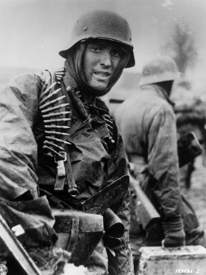 Captured Photo Shows German Ss Panzer Trooper Geared for Winter Battle During Battle of the Bulge--Photographic Print