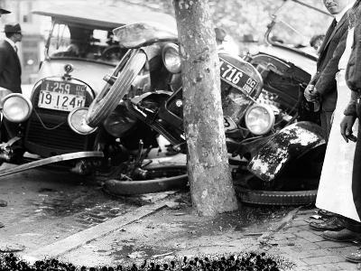 Car Accident, c1919--Giclee Print