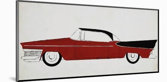 Car, c.1959-Andy Warhol-Mounted Giclee Print
