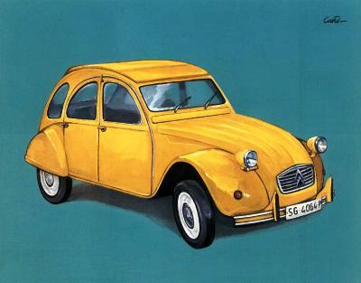 Car I- Conto-Art Print