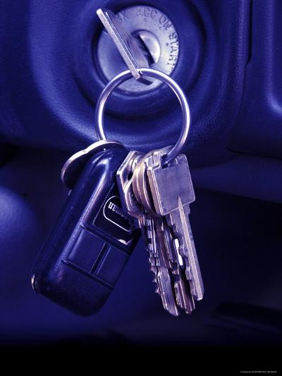 Car Keys in the Ignition--Photographic Print