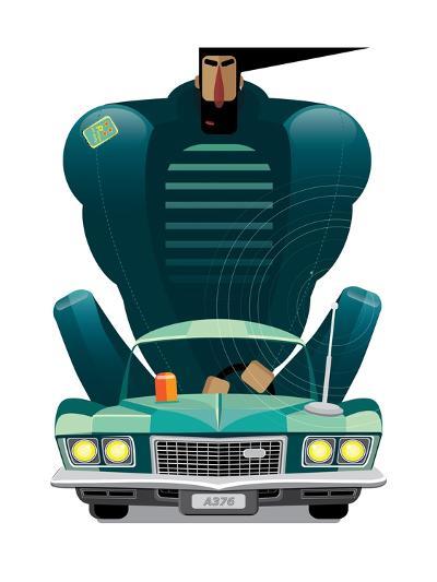 Car&Man- AriSys-Art Print