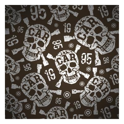 Car Skulls--Art Print