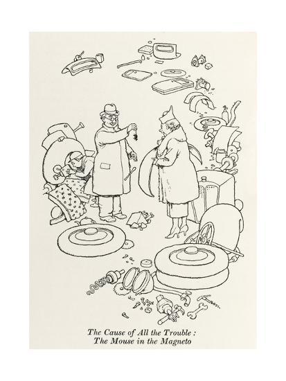 Car Trouble-William Heath Robinson-Giclee Print