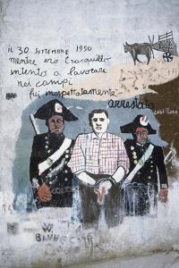 Carabinieri (Police) with Prisoner, Mural in Orgosolo, Sardinia, Italy