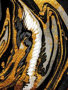 Agate Crystal. Golden Swirl, Artistic Design. the Revival of Oriental Ancie by CARACOLLA