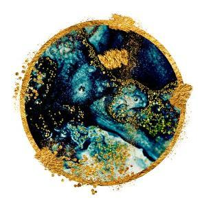 EXOTIC TROPICAL Art. Ink Colors are Amazingly Bright, Luminous, Translucent, Free-Flowing, and Dry by CARACOLLA