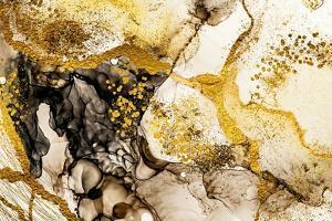 Sands Wilderness- Art. Golden Swirl. Vibrant and Breathtaking Art Medium. Painter Uses Vibrant Pain by CARACOLLA