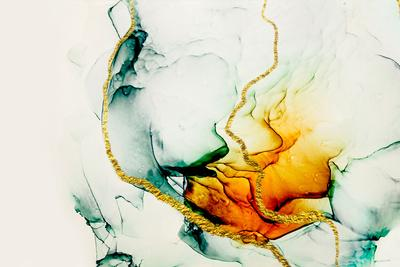 Transparent Creativity. Abstract Artwork. Trendy Wallpaper. Ink Colors are Amazingly Bright, Lumino