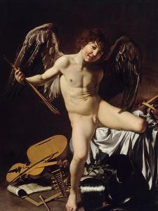 Cupid as Victor, Ca 1601 by Caravaggio