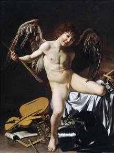 Cupid as Victor by Caravaggio