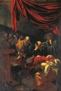 Death of the Virgin Mary by Caravaggio