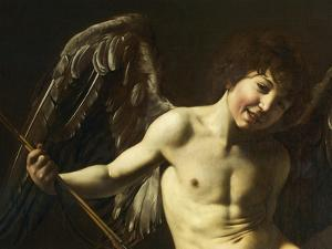 Figure of Cupid, Detail from Amor Victorious or Love Conquers All by Caravaggio