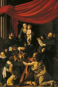 Madonna of the Rosary by Caravaggio