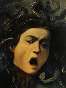 Medusa, Detail, 1598-9 by Caravaggio