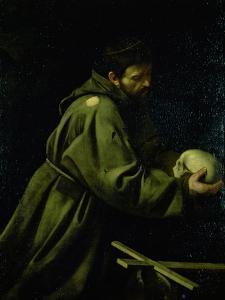 Saint Francis in Meditation by Caravaggio