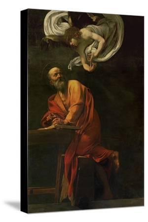 Saint Matthew Writing, Inspired by an Angel, 1600-1602