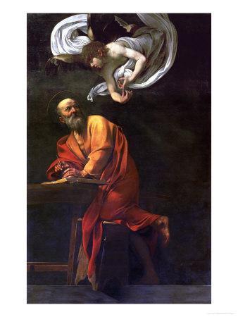 Saint Matthew Writing, Inspired by an Angel, 1600-1602