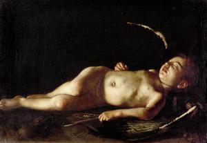 Sleeping Cupid, 1608 by Caravaggio