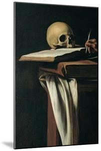 St. Jerome (Detail of skull) by Caravaggio