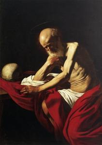 St Jerome Penitent by Caravaggio