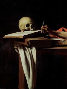 St. Jerome Writing, circa 1604 (Detail) by Caravaggio