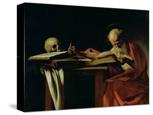 St. Jerome Writing, circa 1604 by Caravaggio