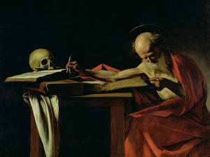 St. Jerome Writing, circa 1604 by Caravaggio