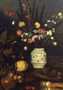 Still Life of Flowers and Plants by Caravaggio