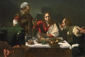 Supper At Emmaus, 1602, Italian Baroque by Caravaggio