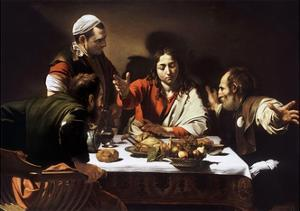 Supper at Emmaus by Caravaggio by Caravaggio