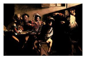 The Calling of Saint Mathew by Caravaggio