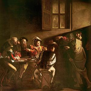 The Calling of St. Matthew, C.1598-1601 by Caravaggio