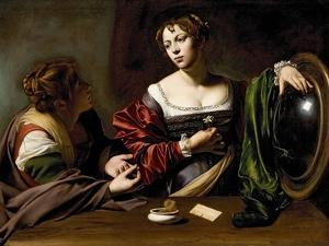 The Conversion of the Magdalene, C.1598 (Oil and Tempera on Canvas) by Caravaggio