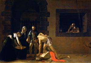 The Decapitation of St. John the Baptist, 1608 by Caravaggio