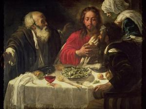 The Supper at Emmaus, circa 1614-21 by Caravaggio