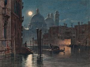 Venice under Moonlight, 1869 by Caravaggio