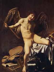 Victorious Cupid, 1602 by Caravaggio