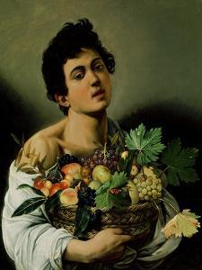 Youth with a Basket of Fruit, 1594 (Detail) by Caravaggio