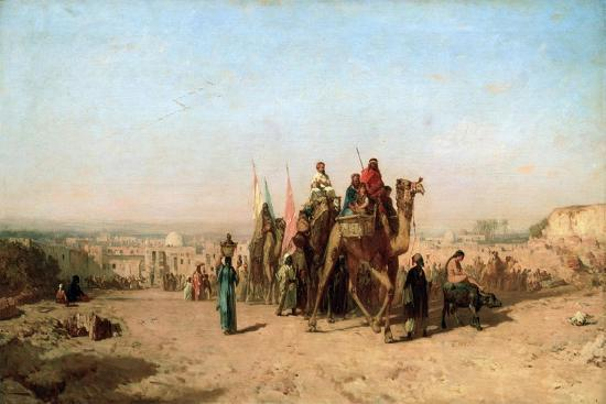 Caravan, 1860-Felix Francois Georges Philibert Ziem-Giclee Print